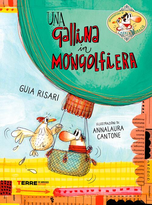 Guia Risari - una gallina in mongolfiera
